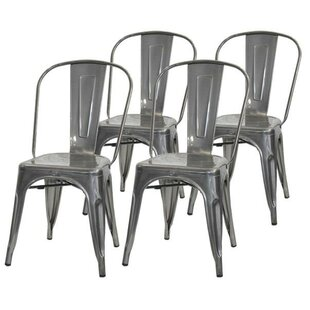 Helsley Cafe Dining Chair (Set of 4) by W..