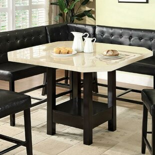 Winston Porter Prentiss Wooden Counter Height Dining Table
