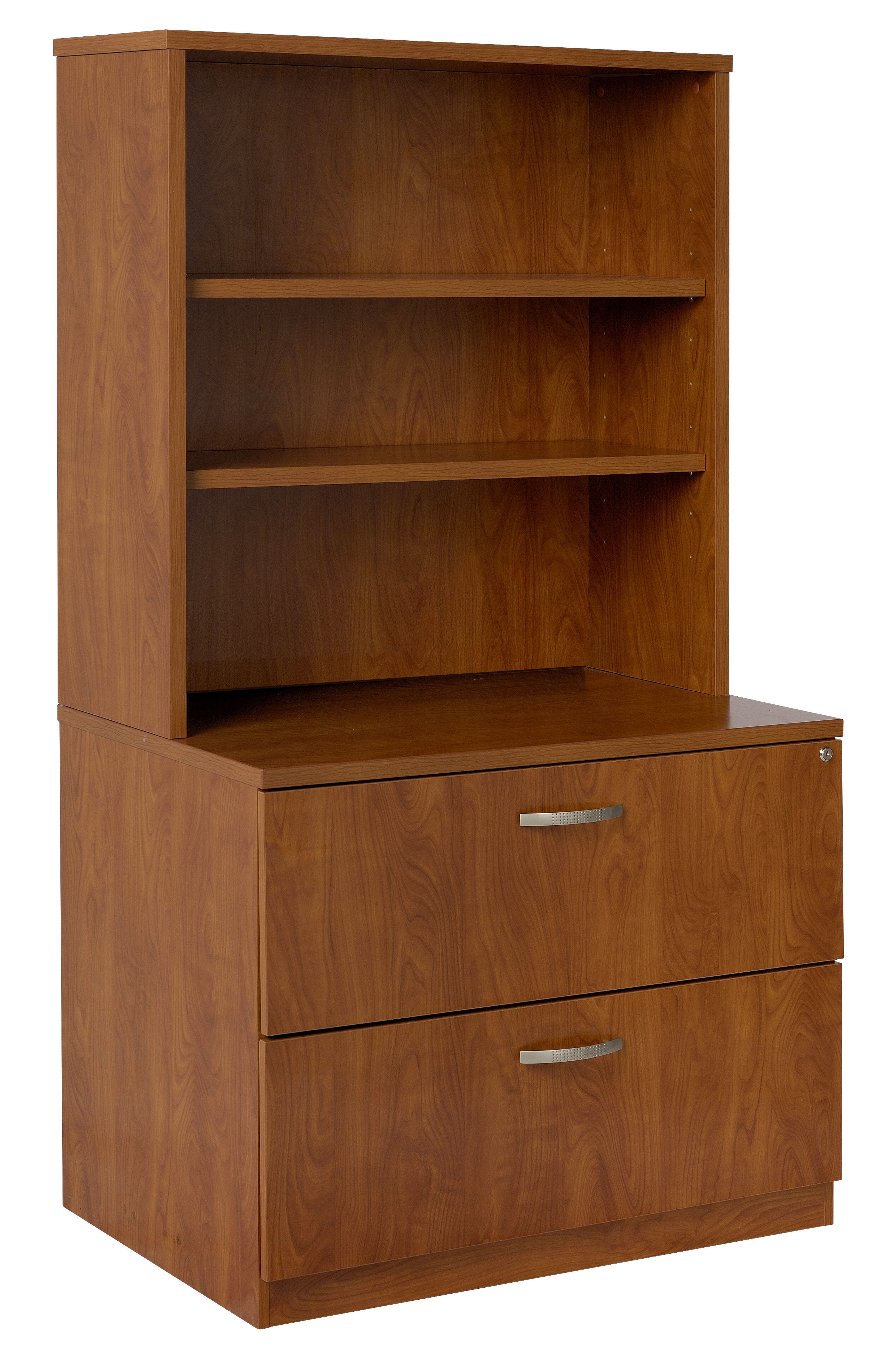 Lateral File Hutch 2 Drawer Vertical Filing Cabinet