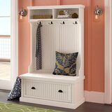 Halstead Hall Tree with Bench and Shoe Storage by Beachcrest Home