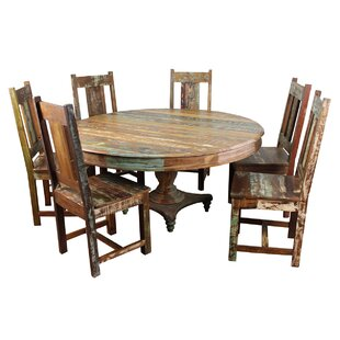 Mcdonnell 7 Piece Solid Wood Dining Set Bloomsbury Market