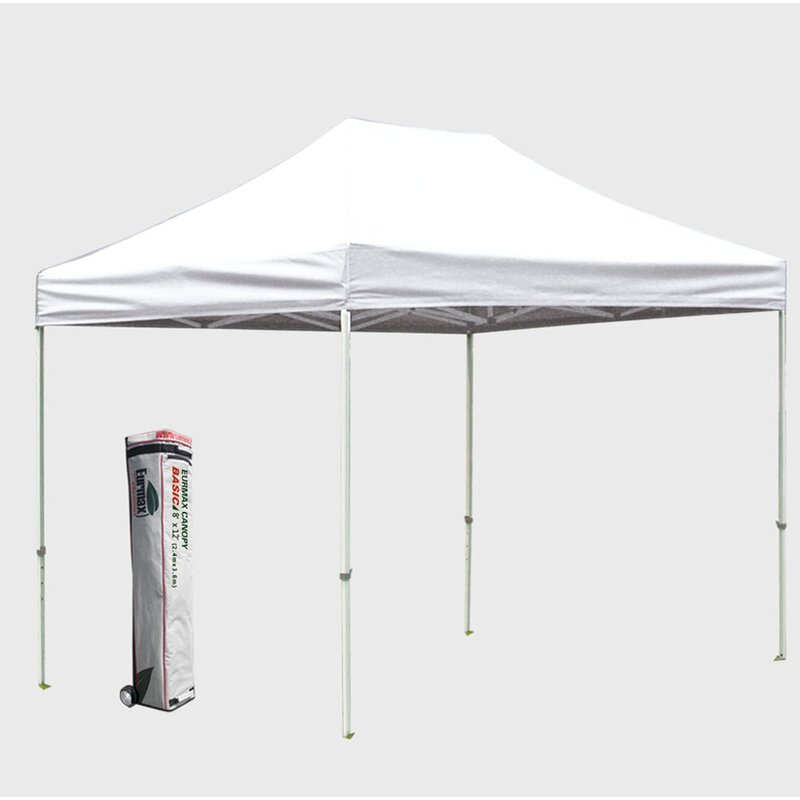 Commercial 8 Ft W X 12 Ft D Steel Pop Up Canopy