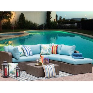 Outdoor 4 Piece Wicker Sec..