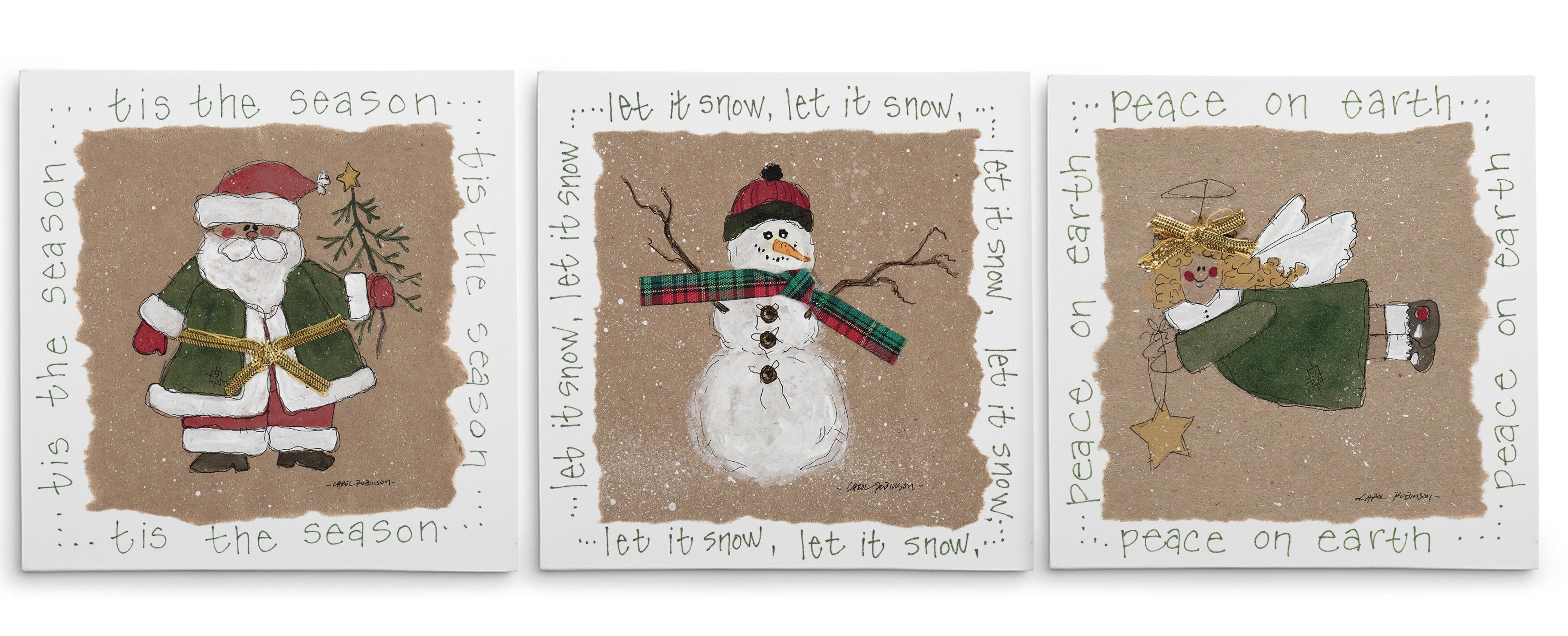 3 Piece Christmas Wall Art You Ll Love In 2021 Wayfair