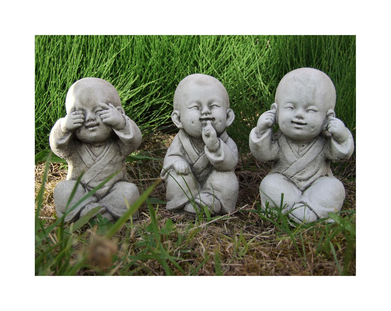 Beau Garden Ornaments By Onefold 3 Piece Wise Monks Buddha Garden Statue Set U0026  Reviews | Wayfair.co.uk