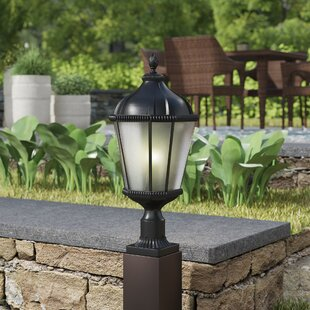 Great Price Bridgewater Aluminum Outdoor 1-Light Pier Mount Light By Andover Mills