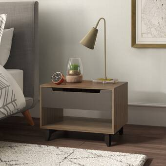 Bungalow Rose Stevensville 3 Drawer Nightstand Wayfair