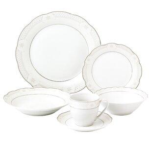 Atara Wavy 24 Piece Dinnerware Set Service for 4