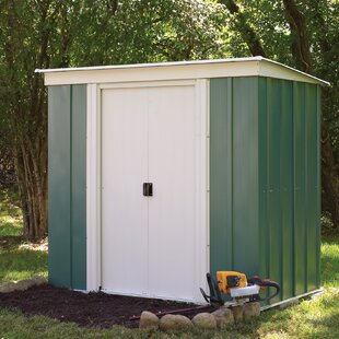6 Ft. W X 4 Ft. D Pent Metal Shed By Sol 72 Outdoor