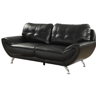 Shameka Contemporary Leatherette Sofa