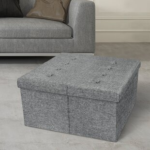 Azu Square Tufted Storage Ottoman by Latitude Run
