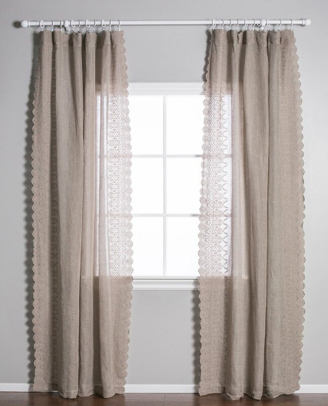 Pom Pom At Home Annabelle Solid Sheer Pinch Pleat Single Curtain ...