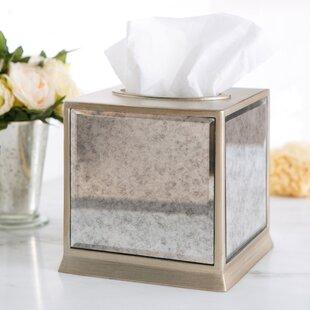 Birch Lane™ Distressed Glass Tissue Box Cover