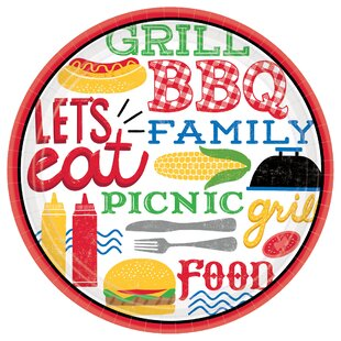 Summer BBQ Picnic Round Paper Plate (Set Of 18) by Amscan Wonderful