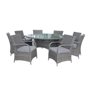 Carncoagh 8 Seater Dining Set With Cushions By Sol 72 Outdoor