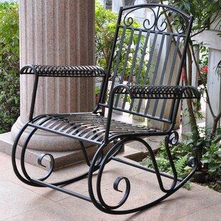 Snowberry Iron Outdoor Porch Rocking Chair
