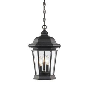 Fleur De Lis Living Bibb 3-Light Outdoor Hanging Lantern