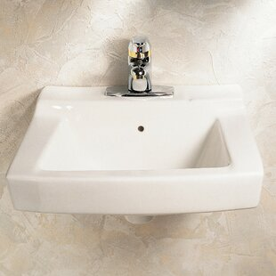 Shop For Declyn Ceramic Square Wall Mount Bathroom Sink with Overflow ByAmerican Standard