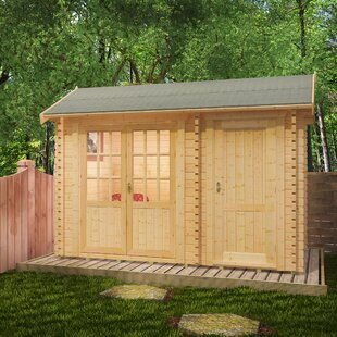 Capetus 12 X 8 Ft. Tongue And Groove Log Cabin By Tiger Sheds