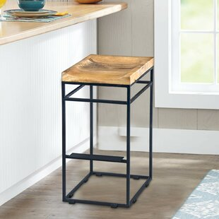 Majewski Square Mango Wood 29 Bar Stool by Williston Forge