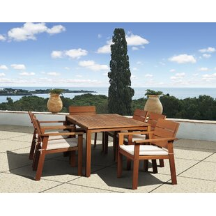 Beachcrest Home Gaeta 7 Piece Dining Set