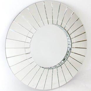 House of Hampton Magdalene Round Beveled Wall Mirror