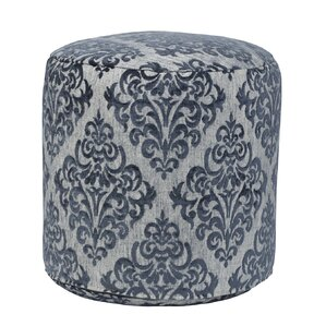 Yorkshire Turquoise Tapestry Pouf Ottoman by..