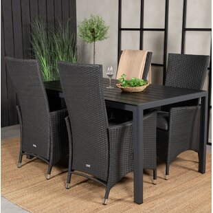 Alby 4 Seater Dining Set With Cushions By Sol 72 Outdoor