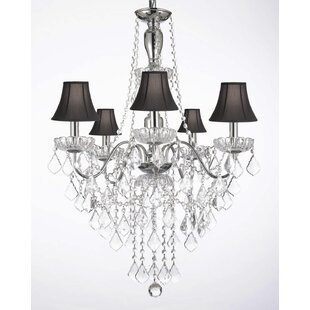 Holton 5-Light Shaded Chandelier by House of Hampton