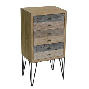 Callisto Wooden Plank 3 Drawer Accent Chest by Ivy Bronx