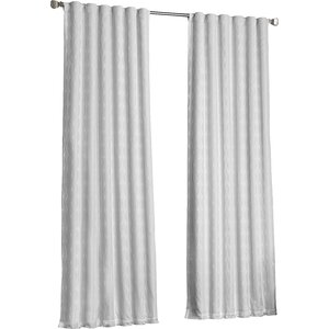 Fitzhugh Geometric Max Blackout Thermal Rod Pocket Single Curtain Panel