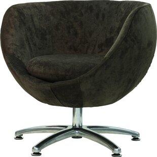 Fox Hill Trading Overman Five Prong Base Globus Barrel Chair