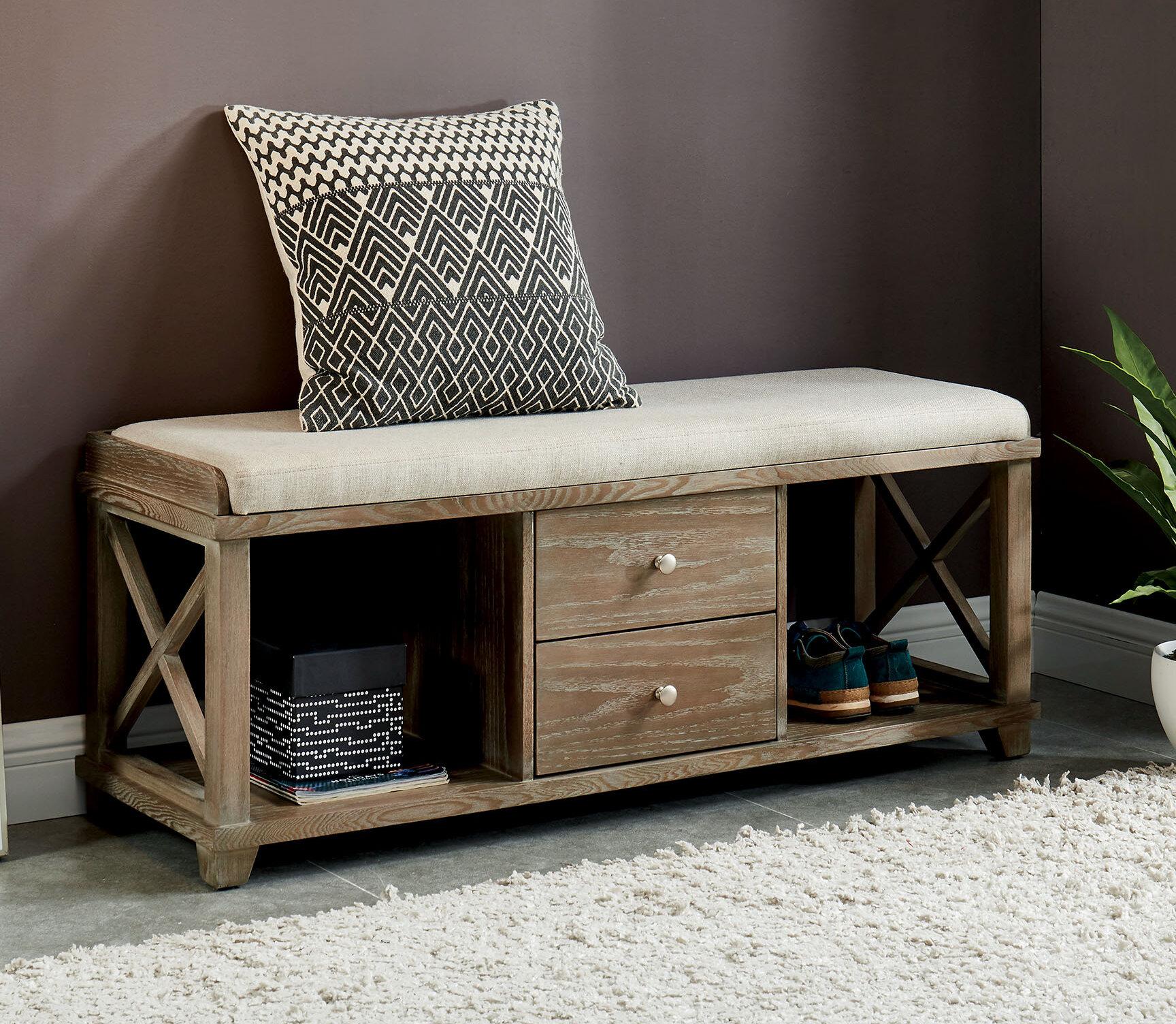 Fine Gracie Oaks Reedsburg Wood Storage Bench Wayfair Camellatalisay Diy Chair Ideas Camellatalisaycom