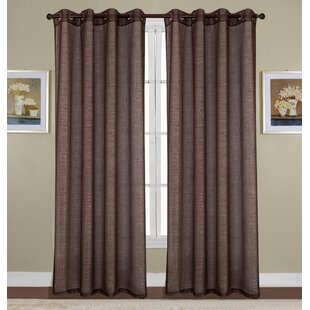 Kaye Woven Lurex Solid Sheer Grommet Single Curtain Panel by Winston Porter