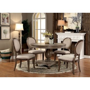Updike 5 Piece Solid Wood Dining Set Ophelia & Co.