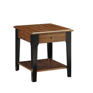 Teresa Wooden End Table by Millwood Pines