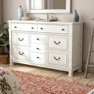Lark Manor Parfondeval White 9 Drawer Standard Dresser