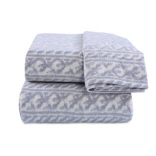 Berkshire Blanket Knit Print Microfleece Sheet Set