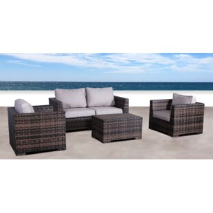 Pierson Resort 4 Piece Sofa Set with Cushions