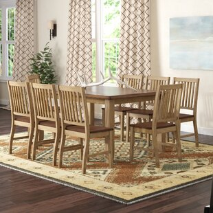 Huerfano Valley 9 Piece Extendable Solid Wood Dining Set Loon Peak