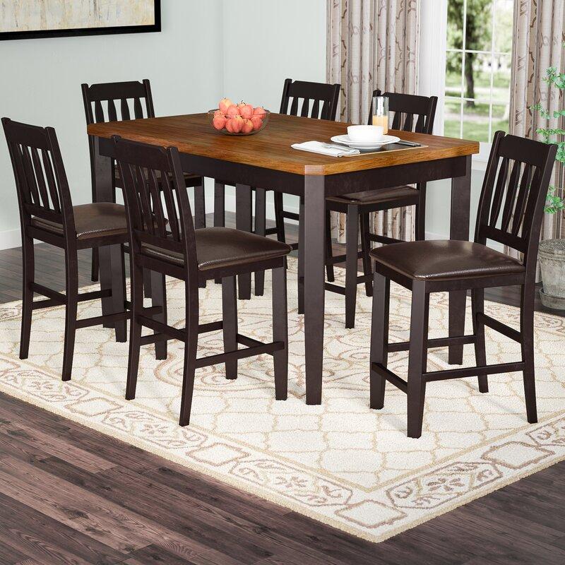 Chandlerville 7 Piece Counter Height Dining Set