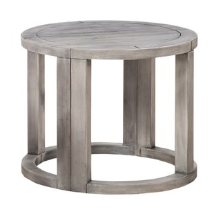 Reviews Calzada Pine Wood Half Moon End Table (Set of 2) by Highland Dunes