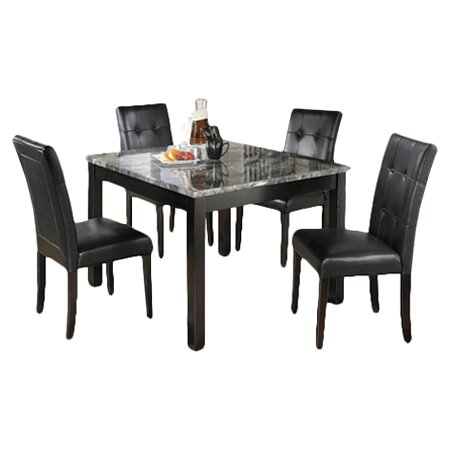 Good Maysville 5 Piece Dinette Set In Black U0026 Grey