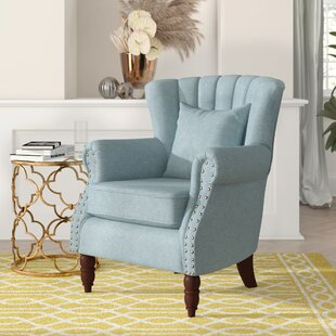 Xan Channel Wingback Chair by Rosdorf Park