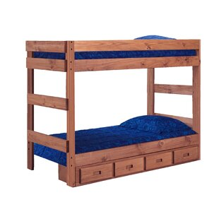 Chmura One Piece Bunk Bed with Storage by Harriet Bee