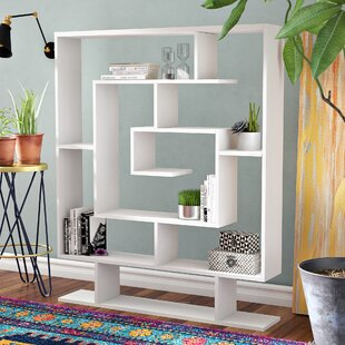 Read Reviews Gailey Geometric Bookcase by Ivy Bronx