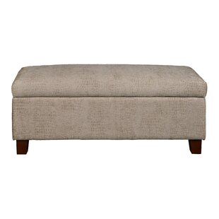 Roper Hinged Top Aldo Overcast Upholstered Storage Bench