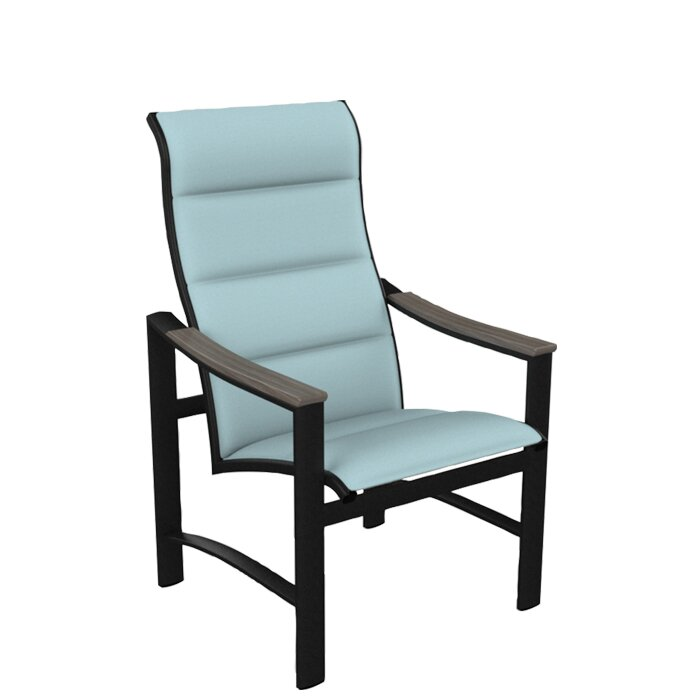 Beautiful Brazo Padded Sling High Back Patio Dining Chair