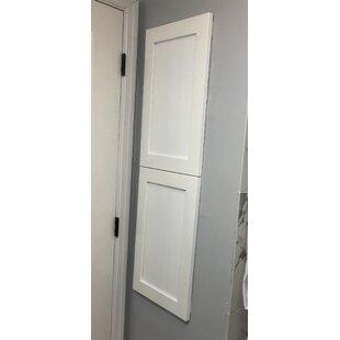 Bjrn Recessed Framed 2 Door Medicine Cabinet with 5 Adjustable Shelves