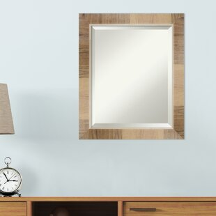 Bungalow Rose Alcesta Natural White Wash Decorative Wall Mirror
